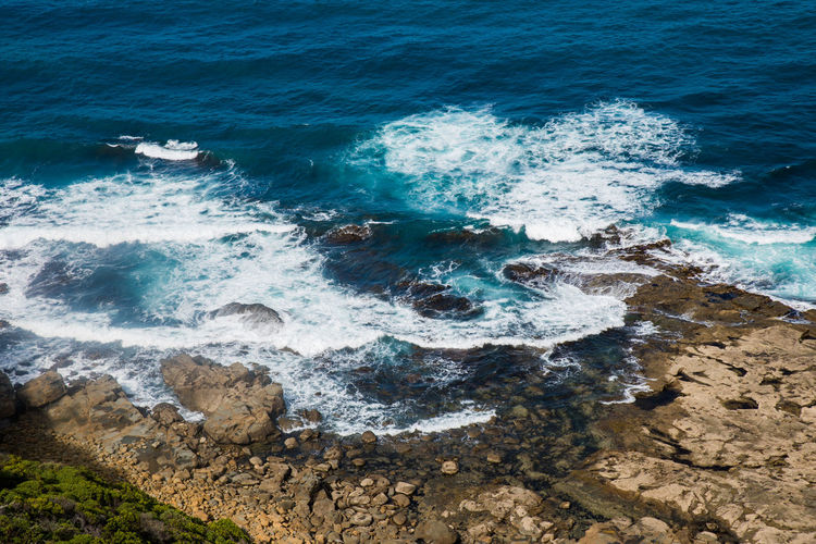 Australia, Great Ocean Road Nature Beach Beauty In Nature Breaking Day Land Motion Nature Outdoors Power In Nature Rock Rock - Object Scenics - Nature Sea Sport Surfing Turquoise Colored Water Wave