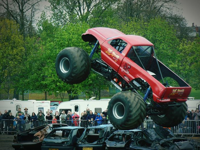 Another random shot. Monster Trucks Car Crushing Jumping Stuntshow