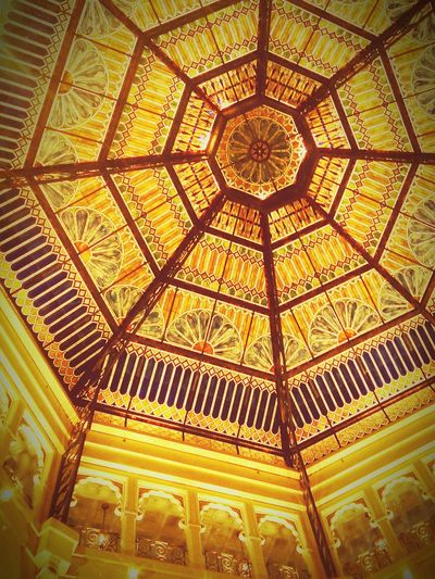Palatial space Ceiling Indoors  Architectural Feature Architecture Pattern Architecture And Art No People Illuminated Dome Architecture Indoors  Travel Destinations