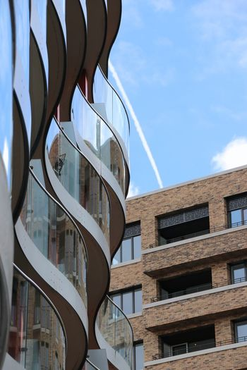 Canada Water London Architecture Building Building Exterior Built Structure City Cloud - Sky Day Glass - Material Low Angle View Modern Nature No People Office Building Exterior Outdoors Reflection Residential District Sky Sunlight Travel Destinations Window