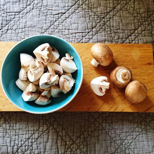 Button mushroom clean eating