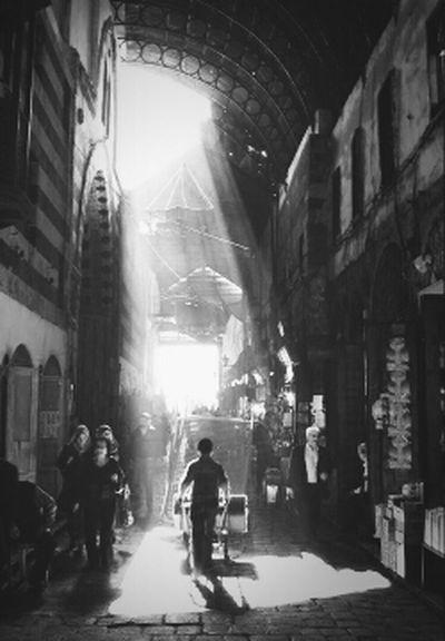 Traveling Working Blackandwhite Boy Market Sunlight Long Exposure Damascus  Syria  Trip Photo Unexpected Bazaar