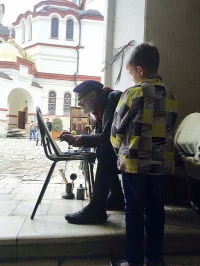 Abkhazia Artist Boy Chilling Church Old Artists Old Painter Paint Painter Painting Place Of Worship абхазия Новый афон