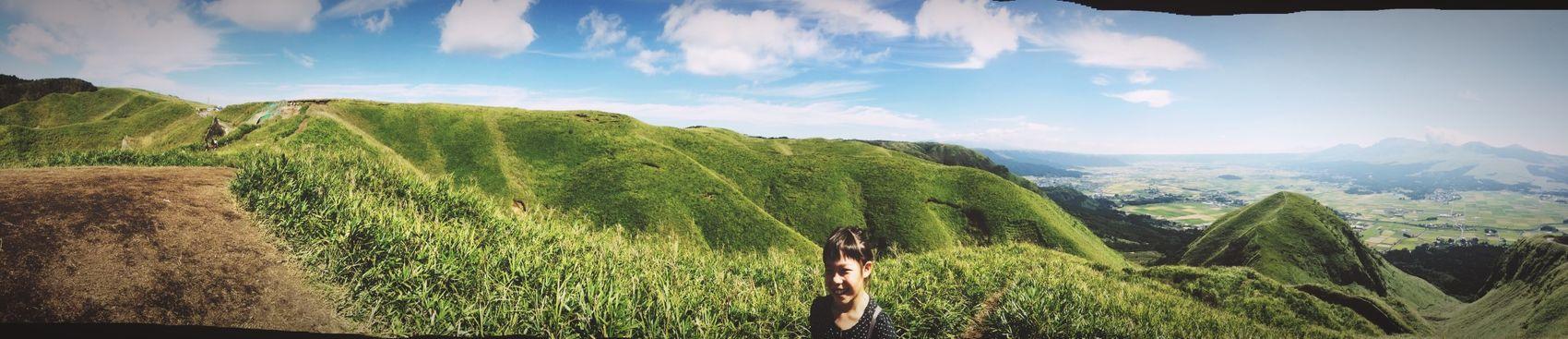 Panorama Taking Photos Traveling Green