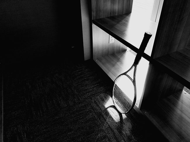 Mobilephotography Simple Photography Tennis 🎾 Tennis Racket Shadows & Lights Shadow And Light Sports Tennislover❤ Branch Room Entrance Sunlight Sunlight And Shadow Sunny Sunny Day EyeEm Best Shots EyeEm Selects Blackandwhite Black & White Blackandwhite Photography Indoors  Door Shadow No People Day Architecture Indoors  High Angle View Close-up EyeEmNewHere
