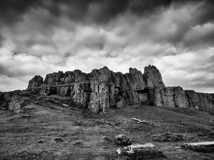 Abandoned & Derelict Architecture_bw Black And White Photography Derbyshire Uk Derelict Building Old Buildings Old Mineworks Outdoors Peak District Northern England Ruined Sky