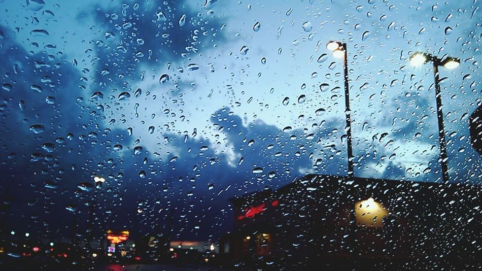 Driving In Rain. ☔ ❤🚗📷 Onmywayhome Rain Day Wetwindow Waterdrops Taking Photos Nature Lubbock Tx Simple Photography Water Stormy Weather