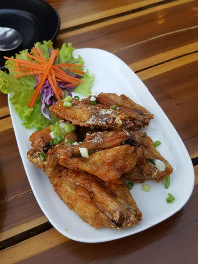 Plate Food Fried Chicken Food For Beer Ready-to-eat Day Thai Food