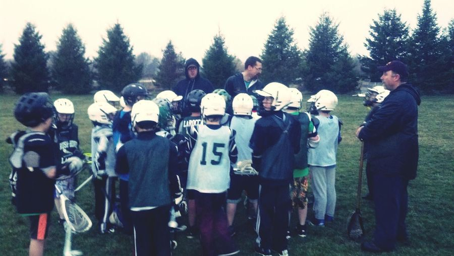 Soggy First Lacrosse Practice...