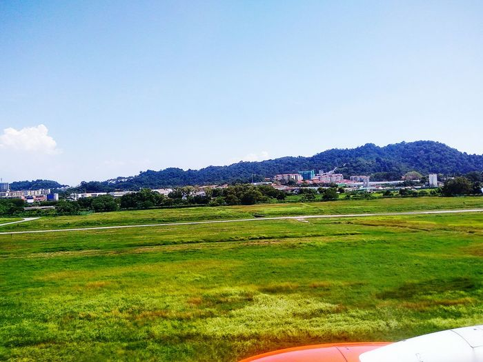 Blue Sky Growth Landscape Nature Grass Agriculture Green Color Outdoors No People Cloud - Sky Tranquility Scenics Tree Lush - Description Beauty In Nature Day Mountain Brautiful View Aeroplane Window Aeroplane Window View Travel No Edit/no Filter Beautıful Aeroplane View