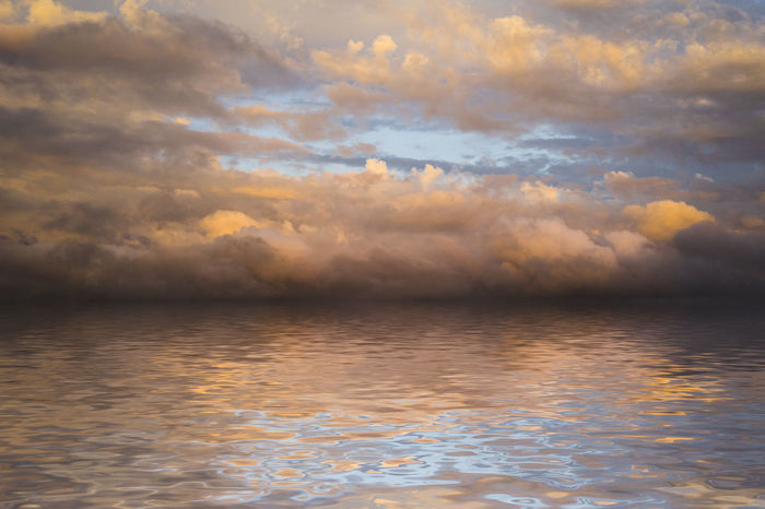 Abstract sky and water Beauty In Nature Cloud - Sky Horizon Idyllic Nature No People Reflection Rippled Scenics - Nature Sea Sky Sunset Tranquil Scene Tranquility Water Waterfront