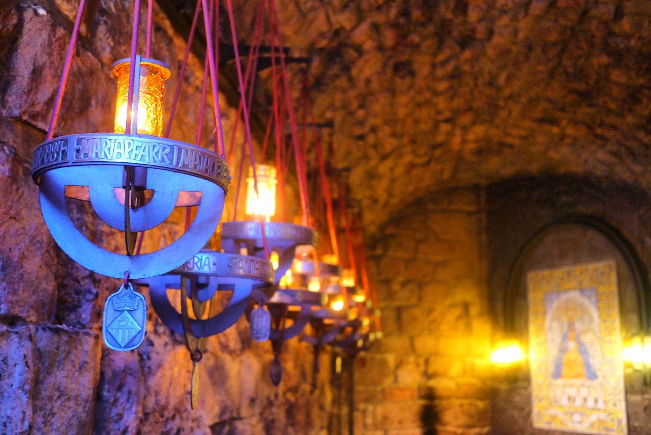 illuminated, lighting equipment, hanging, glowing, night, no people, religion, indoors, burning, flame, close-up, spirituality, place of worship, lantern, oil lamp