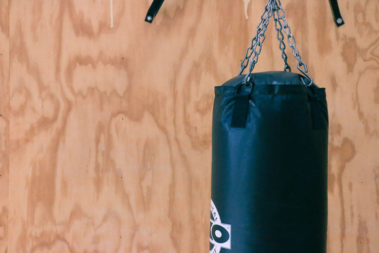 Box Boxing Martial Arts Salem, Oregon Bag Black Color Equipment Exercise Equipment Fitness Focus On Foreground Gym Indoors  Punching Bag Still Life Wood - Material