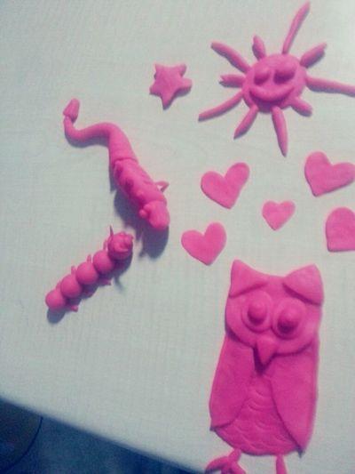 Good Morning✌♥ Playdoh Sun And Star Owl Catterpillar Lizard Hearts Funny Anımals Handmade Jewellery Handmade