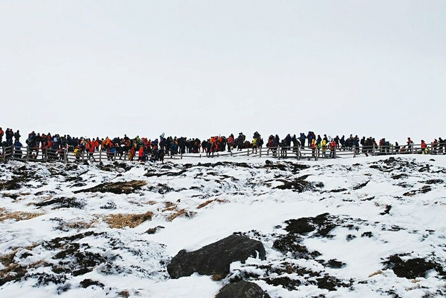 Snow❄sky Snow Photography Snowlandscape Snowwhite Snowland In Korea Snow ❄ Winterscapes JEJU ISLAND