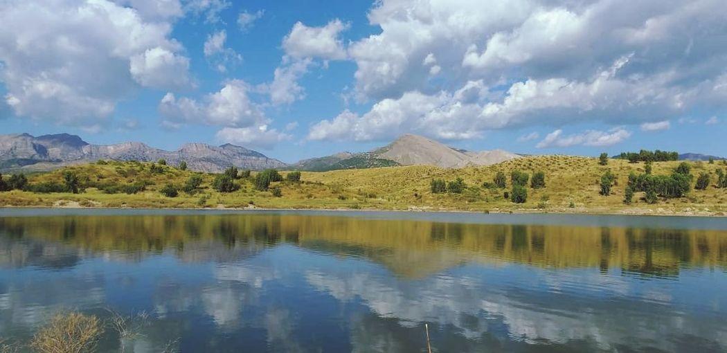 Tree Mountain Water Lake Autumn Reflection Mountain Peak Sky Landscape Cloud - Sky Calm