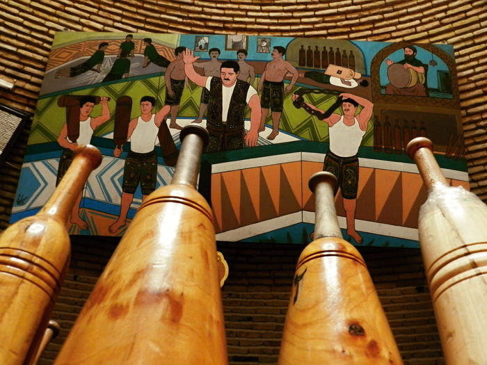 Architecture Culture And Tradition Culture Of Iran Cultures Day Indoors  Iran No People Sport Traditional Yazd ایران زورخانه میل ورزش باستانی یزد