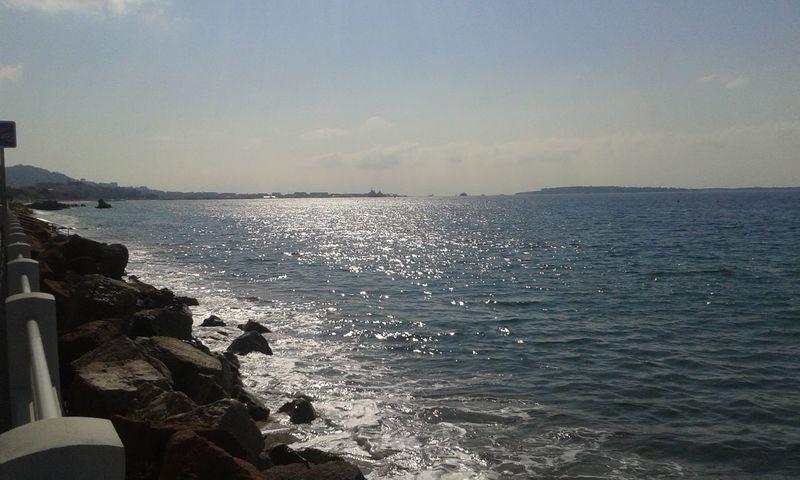 Mer Mar Sea Sea And Sky Calm Calme Argent Cannes, France