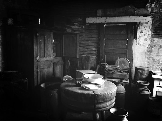 Mission Mystery Western Kitchen Interior from 19th century.