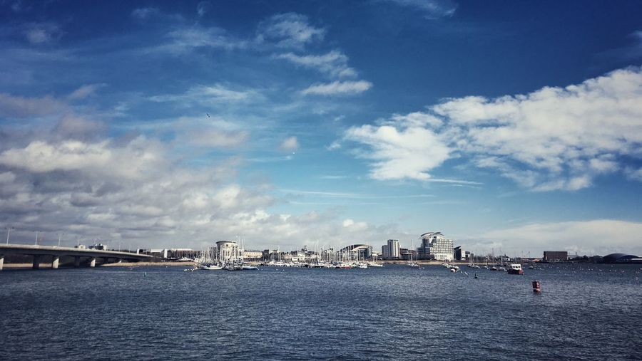 Scenic View Of Cardiff Bay Against Sky