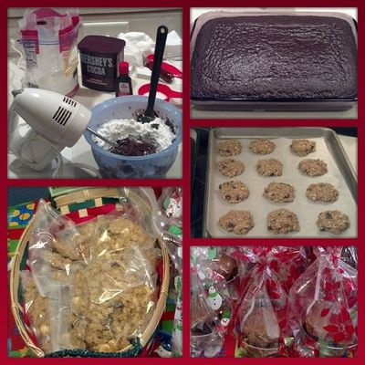 Toysfortots Bakesale Madefromscratch Hersheys Perfect Chocolate Cake and Cranberry White Chocolate chewy oatmeal cookies :) fatkid whatdiet foodgloriousfoood