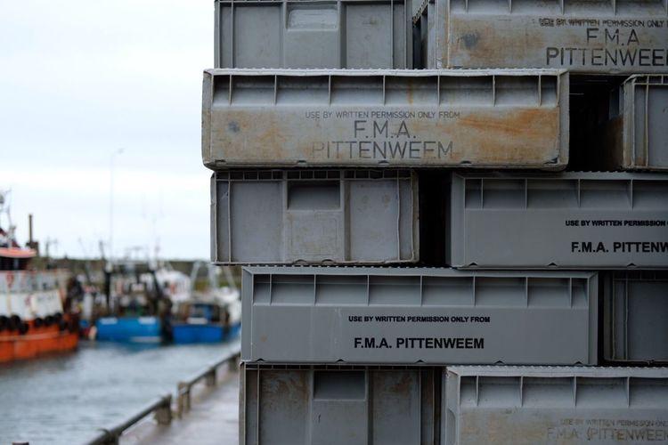 Pittenweem harbour, East Neuk of Fife, Scotland. July 2016. Pittenweem Harbour Harbourside Fife  East Neuk Scotland Fishing Coast Boxes Lettering Showcase July Xpro2 Fujifilm Fujifilm_xseries Streetphotography Photoart