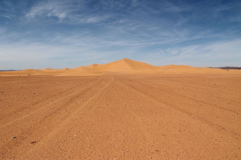 Scenic View Of Sahara Desert Against Sky