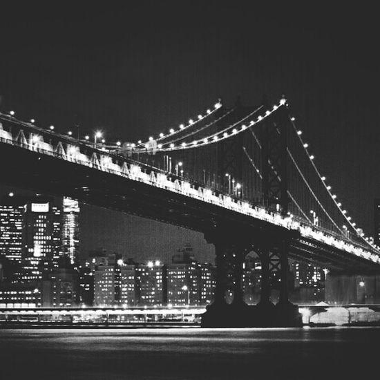 Broklyn Bridge NYC Photography NYC New York Newyorkcity Long Exposure Blsckandwhite Blsck&White Nightphotography New York City Bridge