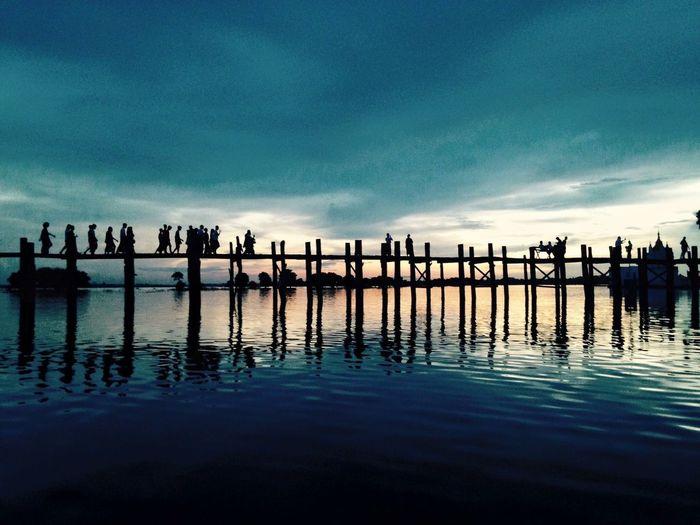 EyeEmNewHere Myanmar Mandalay Burma Water Sky Sea Reflection Tranquility Nature Scenics - Nature