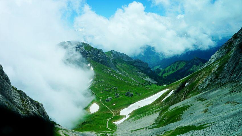 Landscape Pilatus Switzerland Up In The Clouds