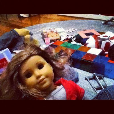 Best part of my jobs, let's play lol Aupair Americangirlsdolls Girlygirlday :)