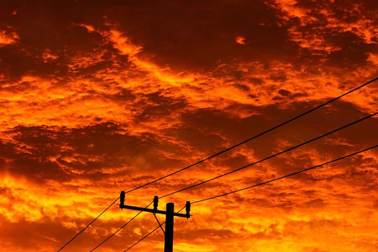 Landscape Sky Sky And Clouds Sky_collection Clouds Cloudscape Cloud Clouds And Sky Landscapes With WhiteWall Landscape_Collection EyeEm Best Shots - Landscape EyeEm Best Shots Sony Zeiss 85mm Red Clouds Sunset Evening Evening Sky Electric Lines Utility Pole Sonyalpha 雲 Colour Of Life