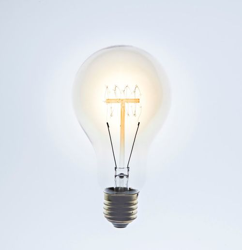 Lightbulb moment Light Bulb Lighting Equipment Filament Studio Shot White Background Indoors  Electricity  No People Copy Space Illuminated Light Glowing Creativity Glass - Material Still Life