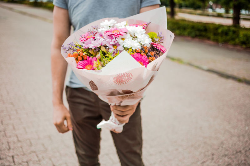 handsome gesture, a bouquet of flowers Beautyful  Best Wishes Boquet Of Flowers Bouquet Close-up Congratulations Flower Flower Head Flowers Fragility Freshness Gesture Handsome Gesture Happy Birthday! Holding Holding Bouquet Men Nature Pink Sorry Thank You