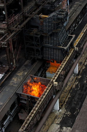 NLMK, Altai coke plant, Russia, metallurgy, wewalka coke from ovens Barbecue Barbecue Grill Burning Day Fire - Natural Phenomenon Flame Glowing Heat - Temperature NLMK, Altai Coke Plant, Russia, Metallurgy, Wewalka Coke From Ovens No People Outdoors Transportation