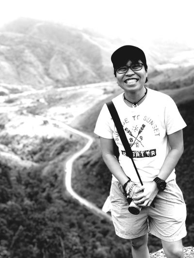 happy Travelphotography Wonderful_places Neverstopexploring  Blackandwhite Lifeinmoments Choosephilippines Traversephilippines Philippines Explorephilippines Wanderlust Portrait Looking At Camera One Person One Man Only Adult People Only Men Smiling Confidence  Happiness Cheerful Outdoors