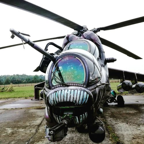 Transportation Mode Of Transport Motorcycle Air Vehicle Land Vehicle Day No People Outdoors Airplane Dnynato Sky Natodays2017 Ostrava Helicopter Transportation Mi28 Aircraft Aliencopter Aliencamo Aliencamouflage