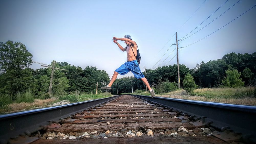 Outdoors Nature Stay Active Summer Action Shot  Railroad