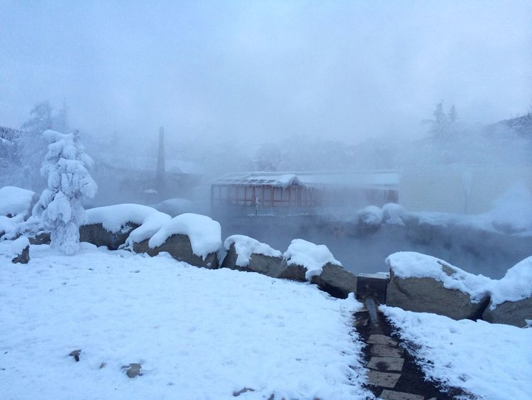 Alaska Chena Hot Springs Resort Hot Springs Chena River Top Of The Mountains Aynaphotography Enjoying The View Winter Snow Fairbanks