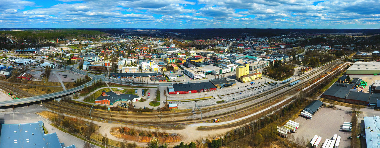 Aerial Aerial Photography Aerial View Architecture Bridge Buildings Cityscape Cityscape Clear Sky Drone  Dronephotography Finland From Above  High Angle View Ilmakuva No People Panorama Panoramic Panoramic Rail Sky Suomi Travel Destinations