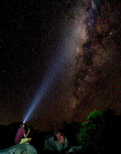 Astronomy Night Star - Space Galaxy Space Milky Way Awe Outdoors Sky People Exploration Scenics Space Exploration