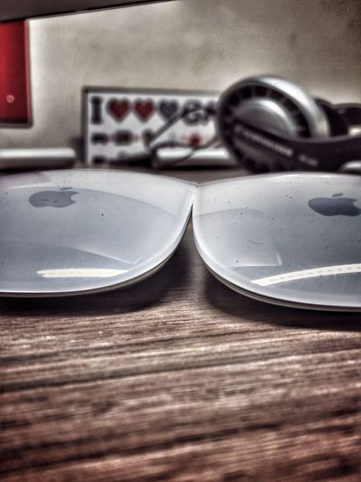 Two Is Better Than One Indoors  AppleFamily Magic Mouse Dual Heart Workstation Fun At Work Work Is Fun
