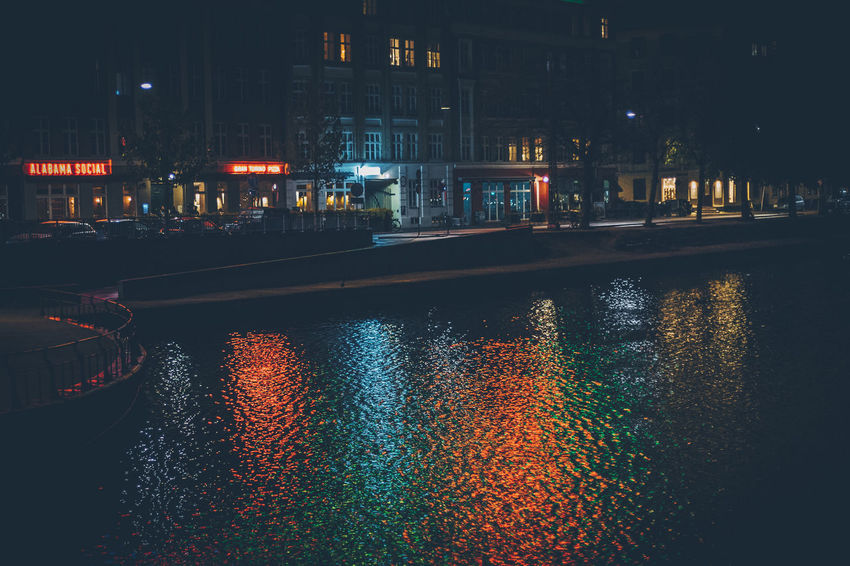 Architecture Building Exterior Built Structure City Illuminated Night No People Outdoors Reflection Reflections In The Water Sky Water Waterfront
