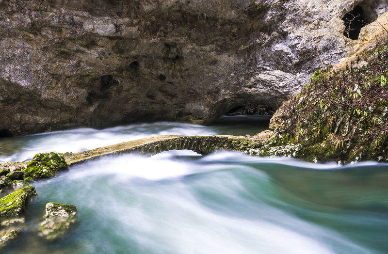 Rakov Škocjan, most ćez reko Rak Landscape Photography Rakov Škocjan Slovenia Beauty In Nature Bridge Cave Long Exposure Photography Motion Nature No People Outdoors River Stone Bridge Water