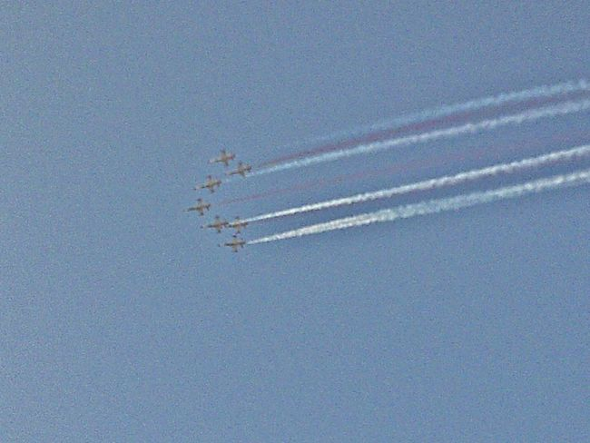 Airplane Vapor Trail Flying Blue Air Vehicle Transportation Airshow No People Day Military Airplane Sky Outdoors Fighter Plane Turkish Stars Air Show