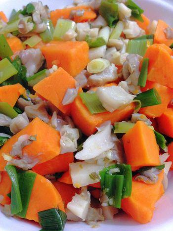 Sweet Potatoes Oyster Mushrooms Green Onion Vegetarian Food Vegan Food 365 Photos In 2015 Healthy Food Vegetables Dinner