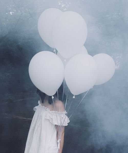 Behind Visual Art Girl Balloon Real People One Person Holding Celebration Outdoors People