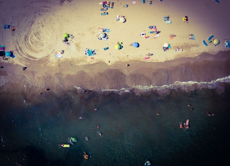 Sea Holiday Aerial View Dji DJI Mavic Pro Dronephotography Dji Large Group Of People High Angle View Crowd Water Group Of People Nature Beach Aerial View Flying