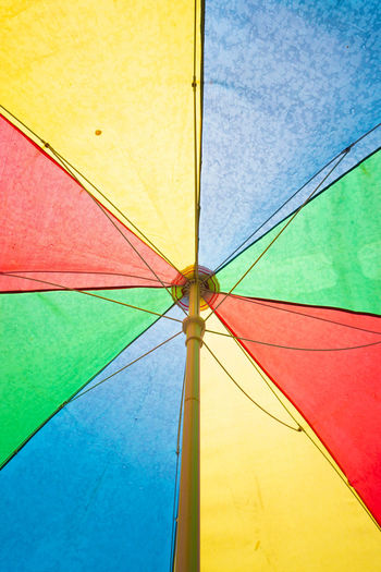 Low angle view of umbrella