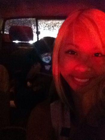 Stuck in traffic!